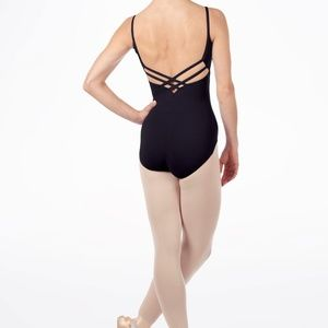NWT 5 star rated Black camisole leotard